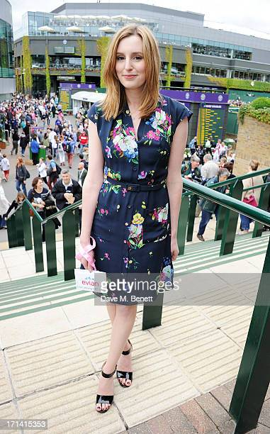 Laura Carmichael attends the evian 'Live Young' Suite at Wimbledon on June 24 2013 in London England