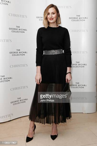 Laura Carmichael attends the George Michael Collection VIP Reception at Christies on March 12 2019 in London England
