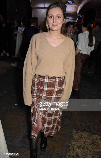 Laura Carmichael attends the press night after party for Betrayal at The Cafe In The Crypt St MartinintheFields on March 13 2019 in London England