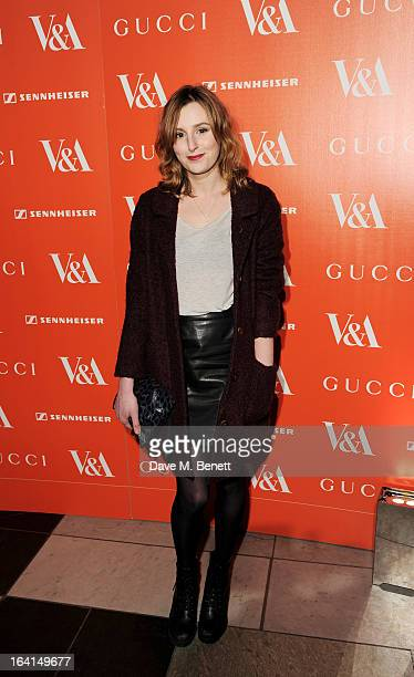 Laura Carmichael attends the private view for the 'David Bowie Is' exhibition in partnership with Gucci and Sennheiser at the Victoria and Albert...