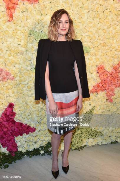 Laura Carmichael attends the Schiaparelli Haute Couture Spring Summer 2019 show as part of Paris Fashion Week on January 21 2019 in Paris France