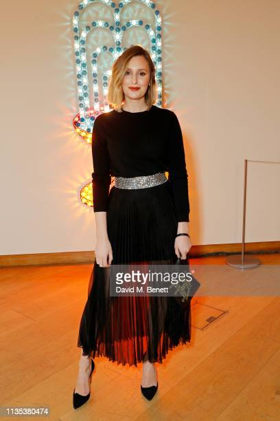 Laura Carmichael celebrates The George Michael Collection at Christie's ahead of the artwork being auctioned on Thursday evening Proceeds from this...