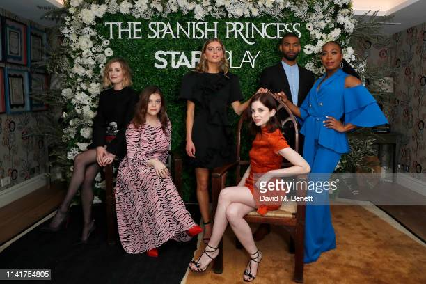 Laura Carmichael Georgie Henley Nadia Parkes Charlotte Hope Aaron Cobham and Stephanie LeviJohn attend an exclusive screening for STARZPLAY's 'The...