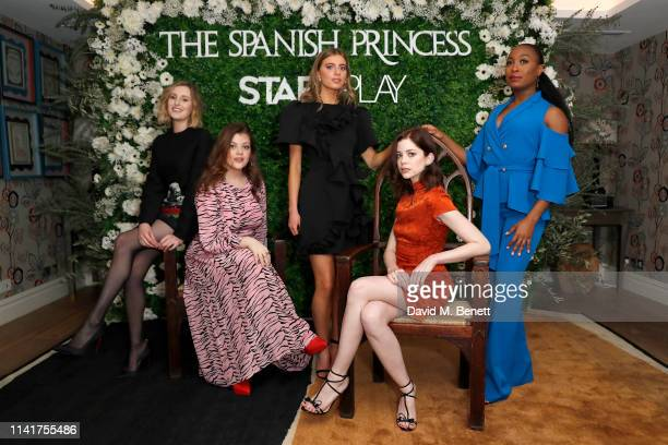 Laura Carmichael Georgie Henley Nadia Parkes Charlotte Hope and Stephanie LeviJohn attend an exclusive screening for STARZPLAY's 'The Spanish...