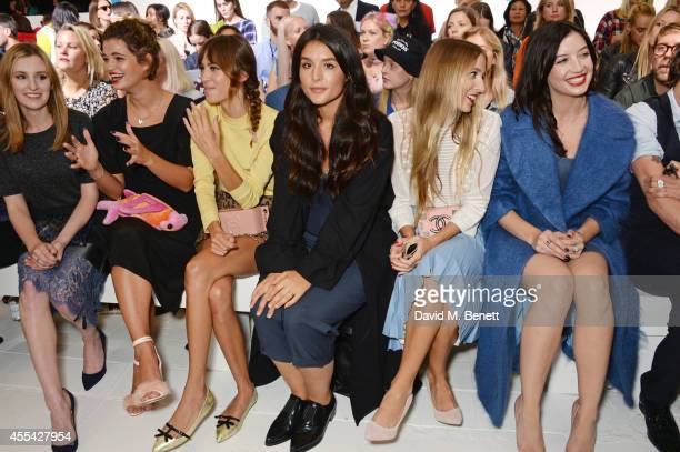 Laura Carmichael, Pixie Geldof, Alexa Chung, Jessie Ware, Harley Viera Newton and Daisy Lowe attend the Topshop Unique SS15 Front Row on September...