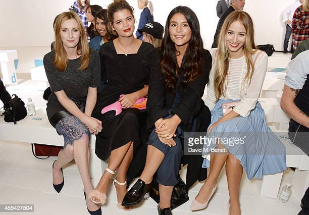 Laura Carmichael, Pixie Geldof, Jessie Ware and Harley Viera Newton attend the Topshop Unique SS15 Front Row on September 14, 2014 in London, England.