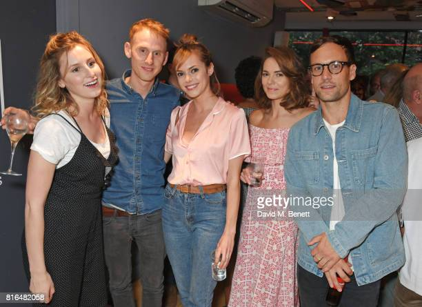 Laura Carmichael Robert Emms Hannah Tointon Kara Tointon and Nick Blood attend the press night party for 'Twilight Song' at The Park Theatre on July...