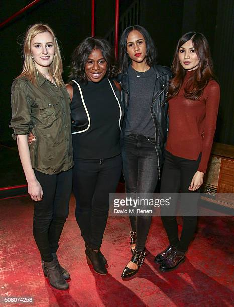 Laura Carmichael Uzo Aduba Zawe Ashton and Gemma Chan attend a photocall as the cast of The Homecoming hands over to the cast of The Maids at...
