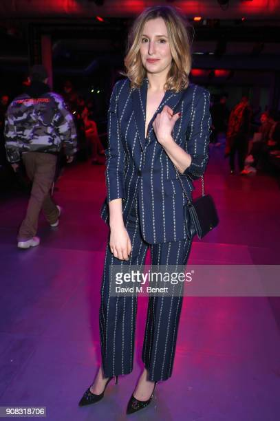 Laura Carmichael wearing Paul Smith attends the Paul Smith AW18 Men's and Women's Show on January 21 2018 in Paris France