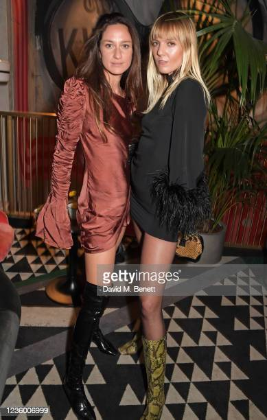 """Laura Castro and Jana Sascha Haveman attend a drinks reception ahead of a special screening of """"Quant"""" at The Everyman Chelsea on October 20, 2021 in..."""