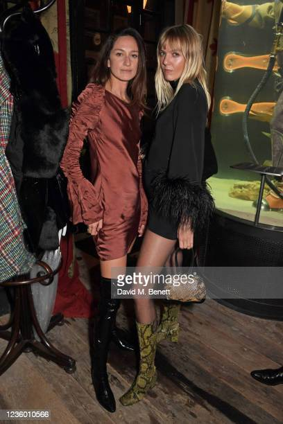 """Laura Castro and Jana Sascha Haveman attend the after party for Sadie Frost's """"Quant"""" at The Chelsea Pig by Timothy Oulton on October 20, 2021 in..."""