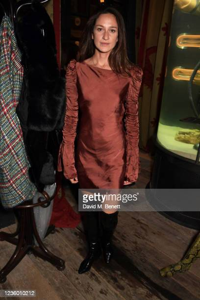 """Laura Castro attends the after party for Sadie Frost's """"Quant"""" at The Chelsea Pig by Timothy Oulton on October 20, 2021 in London, England."""