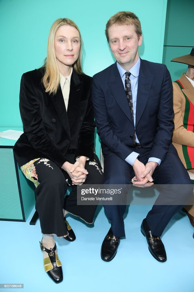 Laura Cavendish and William Cavendish attend the Gucci show during Milan Fashion Week Fall/Winter 2018/19 on February 21, 2018 in Milan, Italy.