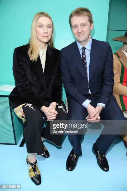 Laura Cavendish and William Cavendish attend the Gucci show during Milan Fashion Week Fall/Winter 2018/19 on February 21 2018 in Milan Italy