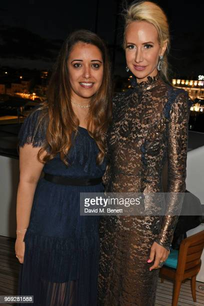 Laura Chavez and Lady Victoria Hervey attend the Lark and Berry launch party on a private yacht during the 71st Cannes Film Festival on May 16 2018...
