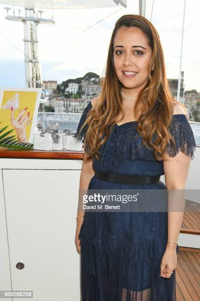 Laura Chavez attends the Lark and Berry launch party on a private yacht during the 71st Cannes Film Festival on May 16 2018 in Cannes France