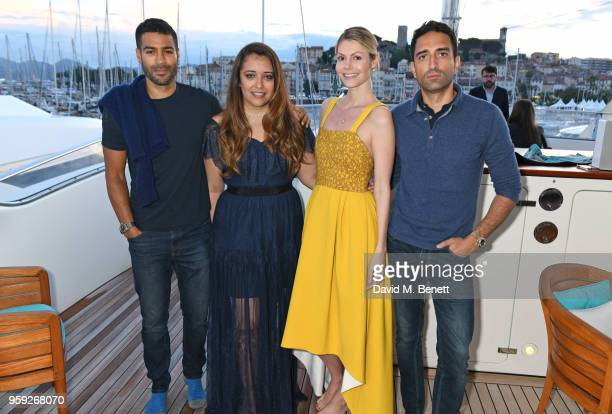 Laura Chavez Kate Tik and guests attend the Lark and Berry launch party on a private yacht during the 71st Cannes Film Festival on May 16 2018 in...
