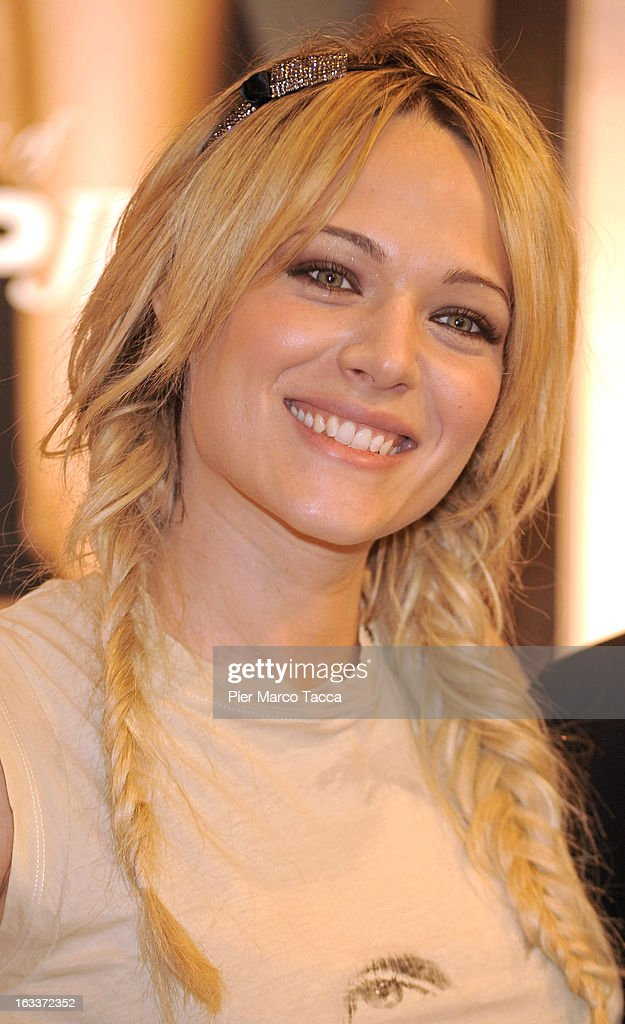 Laura Chiatti attends a Gas event at Coin shop center on March 8, 2013 in Milan, Italy.