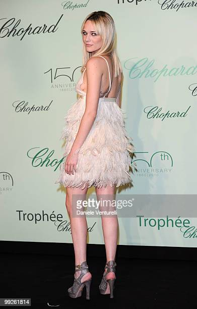 Laura Chiatti attends The Chopard Trophy Dinner at the Hotel Martinez during the 63rd Annual International Cannes Film Festival on May 13 2010 in...
