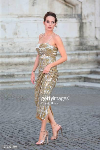 Laura Chiatti attends the Laura Biagiotti Fashion Show at Piazza del Campidoglio on September 13, 2020 in Rome, Italy.
