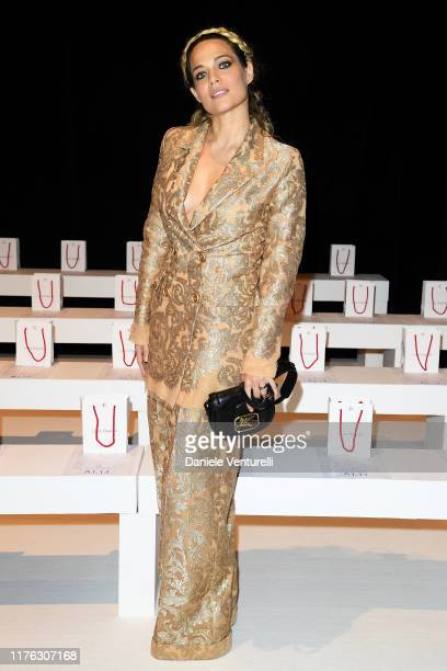 Laura Chiatti attends the Laura Biagiotti fashion show during the Milan Fashion Week Spring/Summer 2020 on September 22 2019 in Milan Italy
