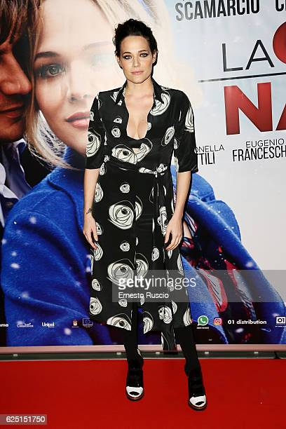 Laura Chiatti walks a red carpet for 'La Cena Di Natale' at Cinema Adriano on November 22 2016 in Rome Italy