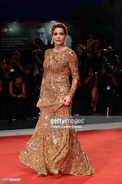 Laura Chiatti walks the Filming In Italy red carpet during the 76th Venice Film Festival at Sala Grande on September 01 2019 in Venice Italy