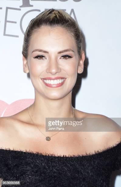 Laura Chimaras arrives to Telemundo's 'Mi Familia Perfecta' Wrap Party at Pisco y Nazca on May 1 2018 in Doral Florida