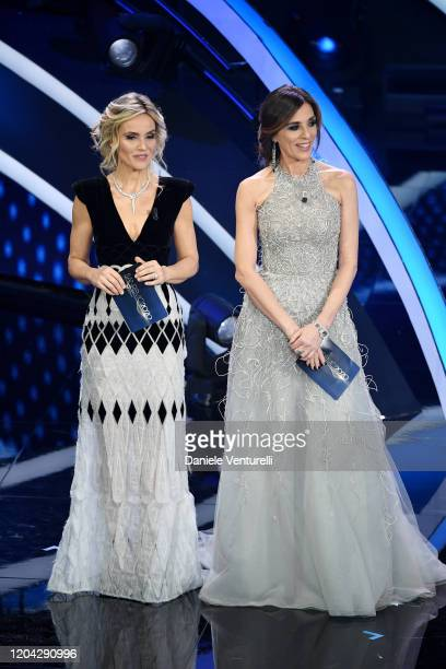 Laura Chimenti and Emma D'Aquino attend the 70° Festival di Sanremo at Teatro Ariston on February 05 2020 in Sanremo Italy
