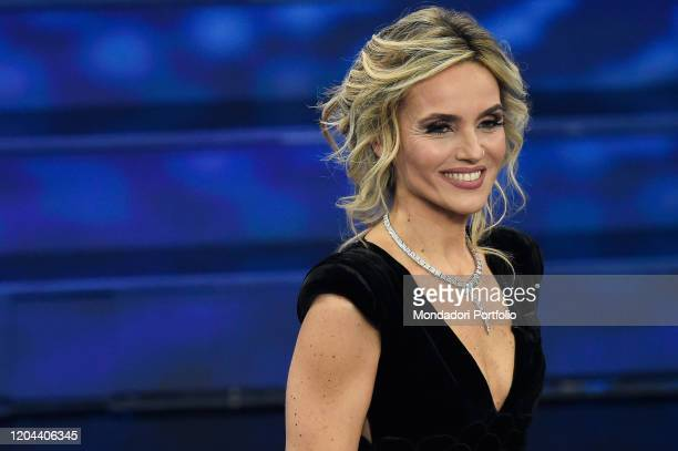 Laura Chimenti at the first evening of the 70th Sanremo Music Festival Sanremo February 5th 2020