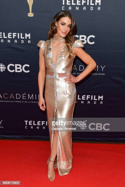 Laura Cilevitz arrives at the 2018 Canadian Screen Awards at the Sony Centre for the Performing Arts on March 11 2018 in Toronto Canada