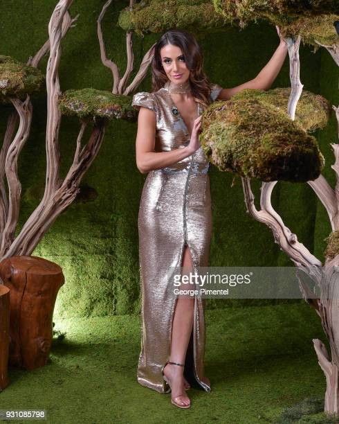 Laura Cilevitz poses in the 2018 Canadian Screen Awards Broadcast Gala Portrait Studio at Sony Centre for the Performing Arts on March 11 2018 in...