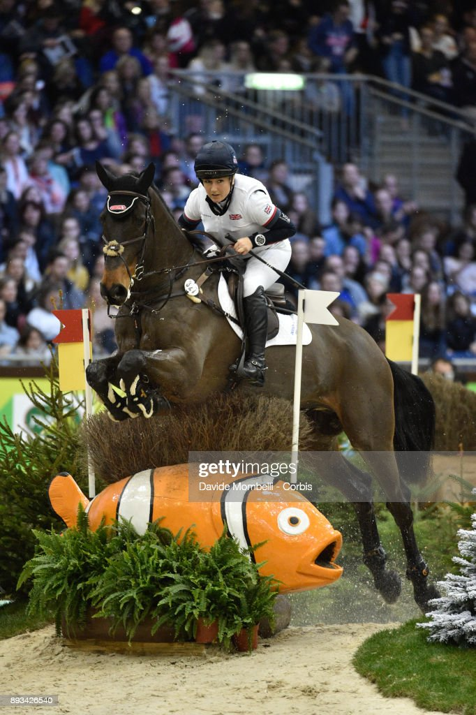 Laura COLLETT, of England, riding Cooley Again, during the Cross Indoor sponsored by Tribune de Genève , Rolex Grand Slam Geneva 2017
