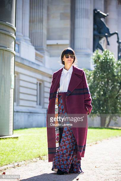 Laura Comolli attends Giambattista Valli show on day 7 of Paris Womens Fashion Week Spring/Summer 2017 on October 3 2016 in Paris France