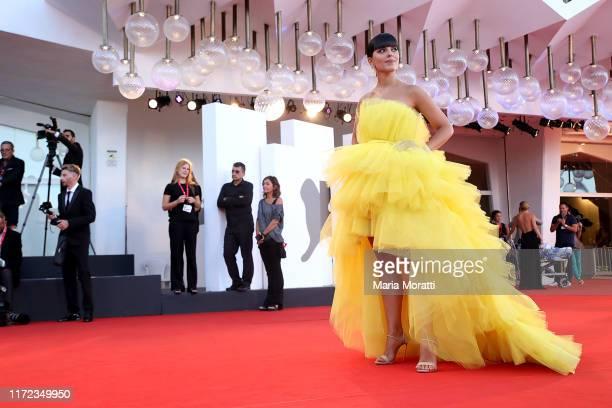 Laura Comolli walks the red carpet ahead of the Lan Xin Da Ju Yuan screening during the 76th Venice Film Festival at Sala Grande on September 04 2019...