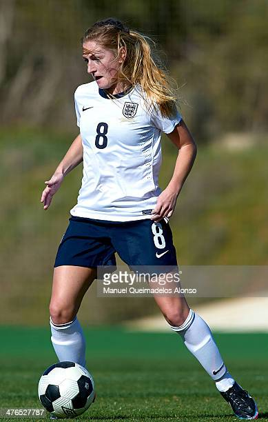 Laura Coobs of England controls the ball during the U23 friendly match between England and Germany at la Manga Club on March 3 2014 in La Manga Spain