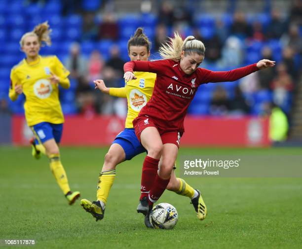 Laura Coombs of Liverpool Women during the Womens Super League match between Liverpool Women and Birmingham City Women at Prenton Park on November 25...