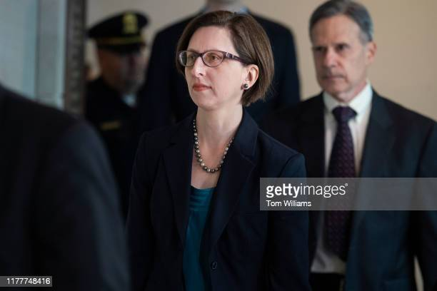 Laura Cooper deputy assistant secretary of defense arrives to the Capitol for a deposition related to the House's impeachment inquiry on Wednesday...