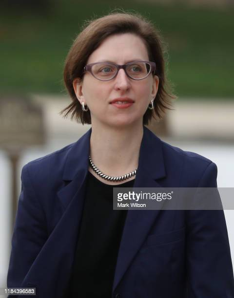Laura Cooper Deputy Assistant Secretary of Defense for Russia Ukraine and Eurasia arrives on Capitol Hill before attending a closeddoor deposition on...