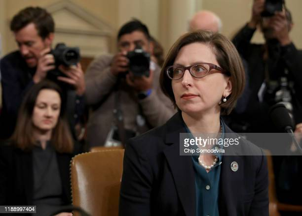 Laura Cooper deputy assistant secretary of defense for Russia Ukraine and Eurasia arrives for testimony before the House Intelligence Committee in...