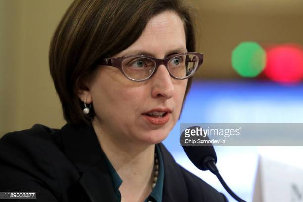 Laura Cooper deputy assistant secretary of defense for Russia Ukraine and Eurasia testifies before the House Intelligence Committee in the Longworth...