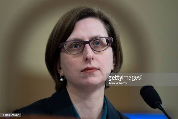 Laura Cooper deputy assistant secretary of defense testifies during the House Intelligence Committee hearing on the impeachment inquiry of President...