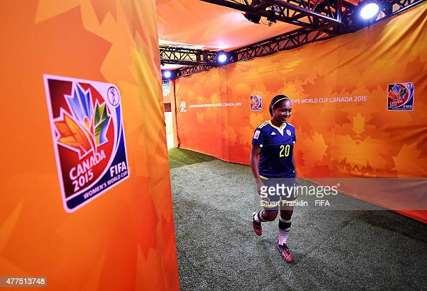 Laura Cosme of Colombia walks in the players tunnel during the FIFA Womens's World Cup Group F match between England and Colombia at Olympic Stadium...