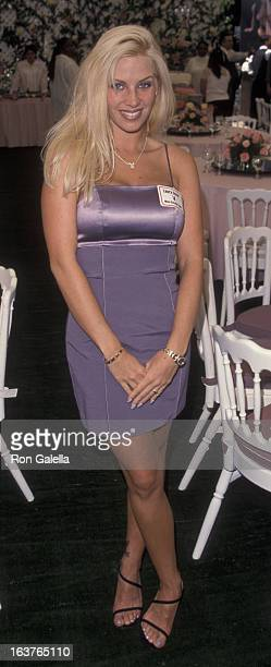 Laura Cover attends Playboy Playmate of the Year Press Conference on April 29 1999 at the Playboy Mansion in Beverly Hills California