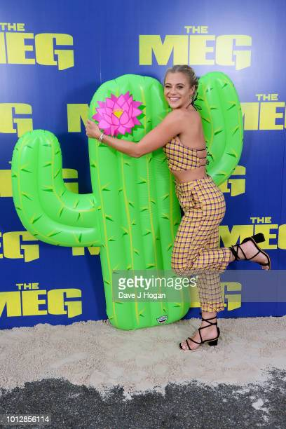 Laura Crane attends a special screening of 'The Meg' at Brockwell Lido on August 7 2018 in London England