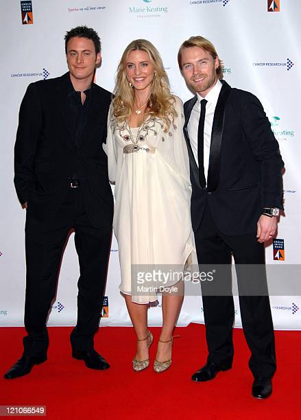 Laura Critchley Ronan Keating and guest attend The Emeralds Ivy Ball hosted by Ronan Keating for Cancer Research UK sponsored by Anglo Irish Bank at...