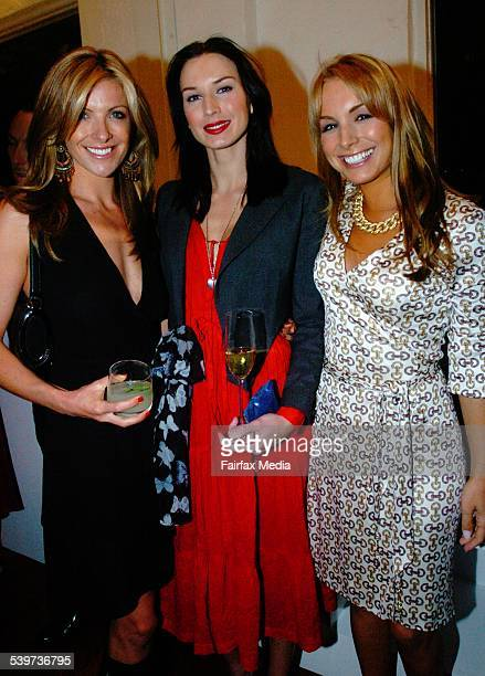 Laura Csortan, Mink and Natalie Michaels at the Gucci Resort Parade Party, Surry Hills, 17 November 2005. SHD NEWS Picture by JANIE BARRETT