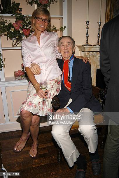 Laura Cushing and Slim Aarons attend the Klauer family celebrates the marriage of Kristina Stewart and Arthur Ward at Private Residence on June 16...