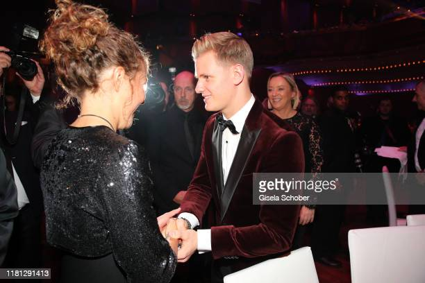 Laura Dahlmeier and Mick Schumacher during the German Sports Media Ball at Alte Oper on November 9, 2019 in Frankfurt am Main, Germany.