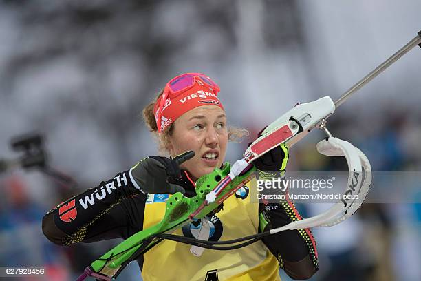 Laura Dahlmeier of Germany competes during the 10 km women's pursuit on December 4, 2016 in Ostersund, Sweden.
